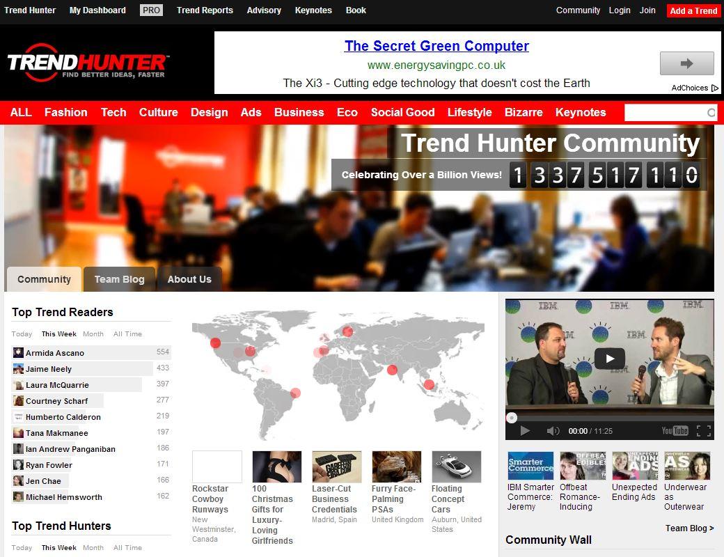 Trend Hunter visitas