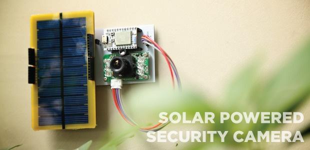 Spark core. Videocámara energía solar