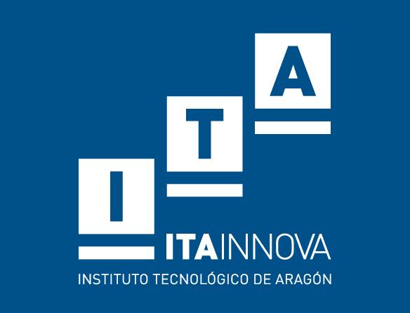 ITA INNOVA. Logo vertical azul
