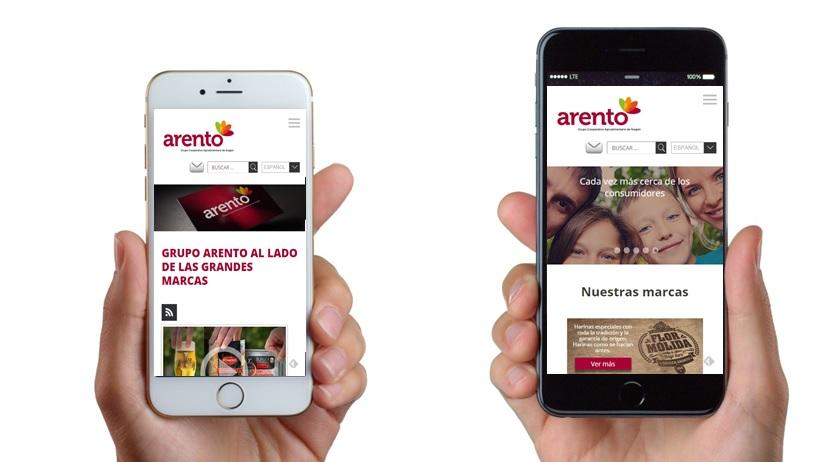 Web del Grupo Arento
