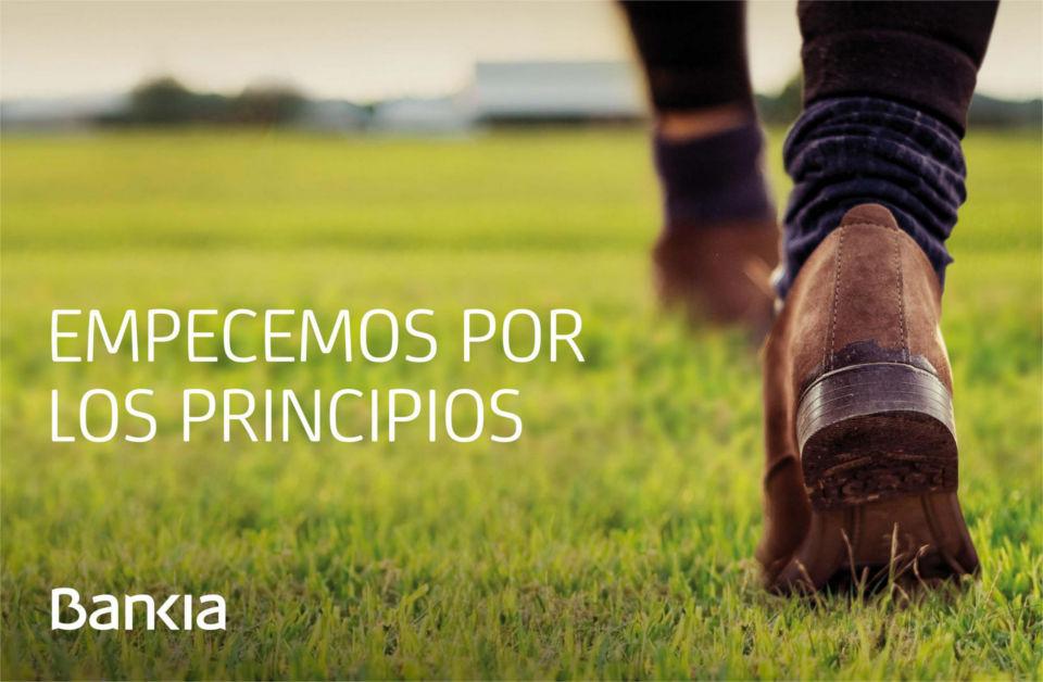 Bankia, campaña empecemos por los principios, febrero 2013
