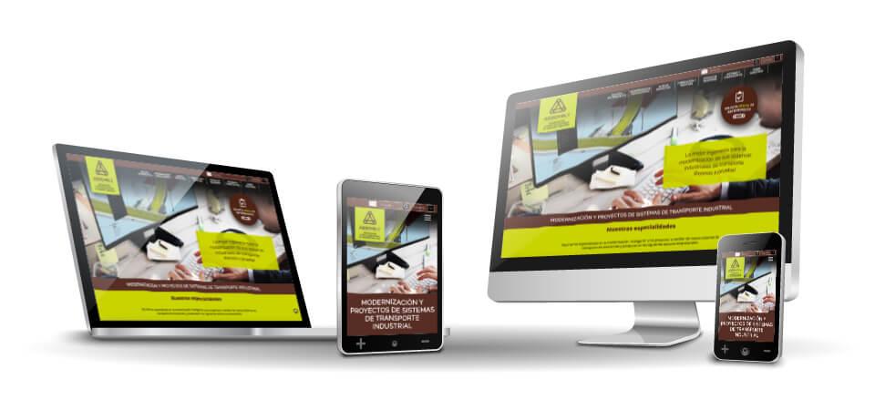 Mejora Competitiva. Agencia de comunicación digital. Website corporativo. Responsive