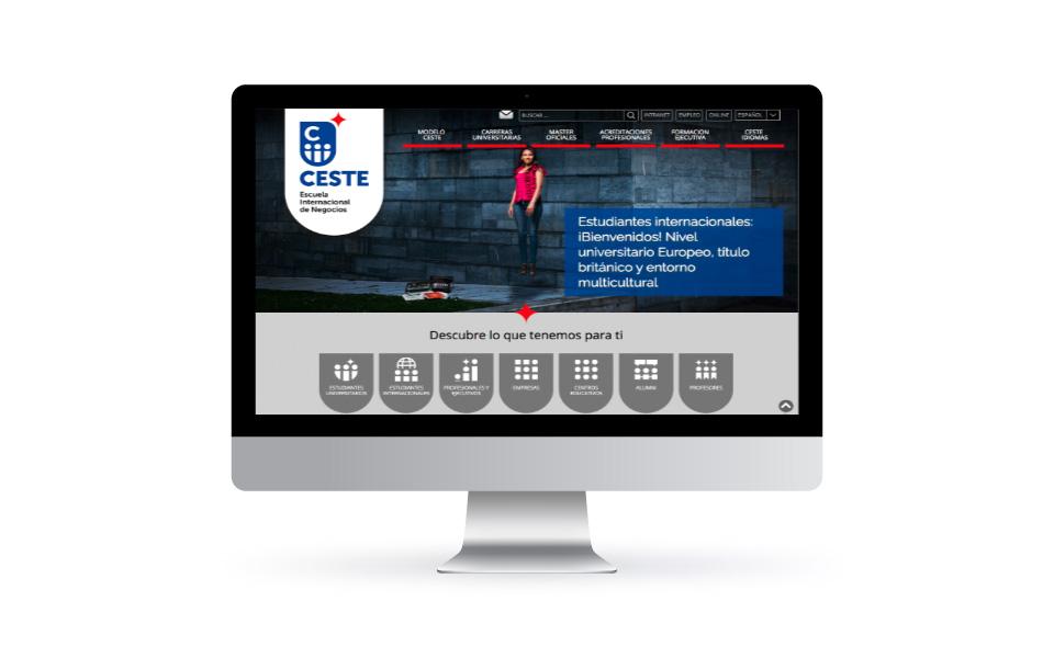 Mejora Competitiva. Agencia de comunicación digital. Portfolio. CESTE. Website corporativo. Desktop