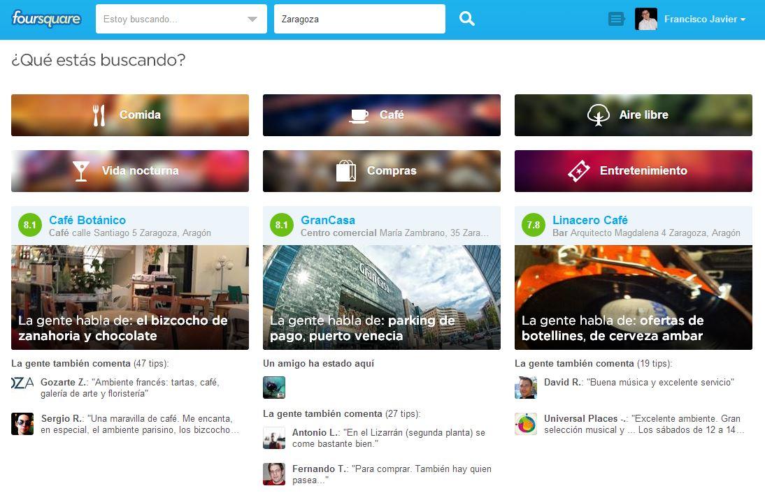 FourSquare, desarrollo actual de su concepto de negocio