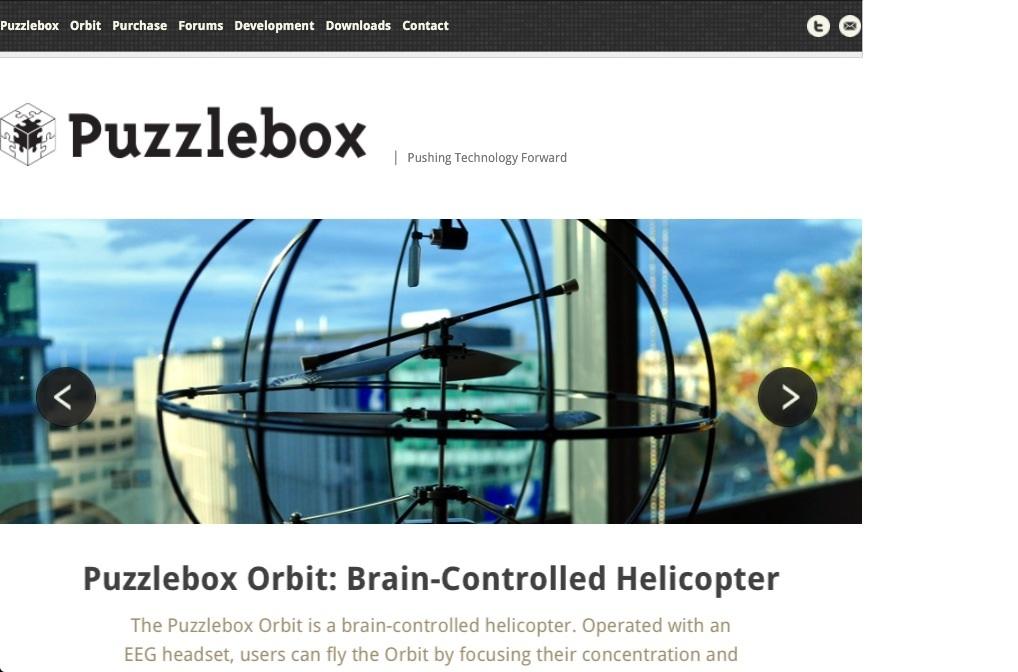Neurosensores: helicóptero controlado con la mente