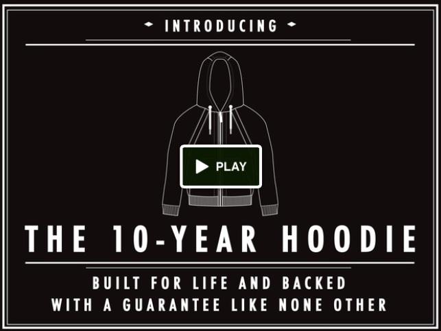 The 10 year hoodie