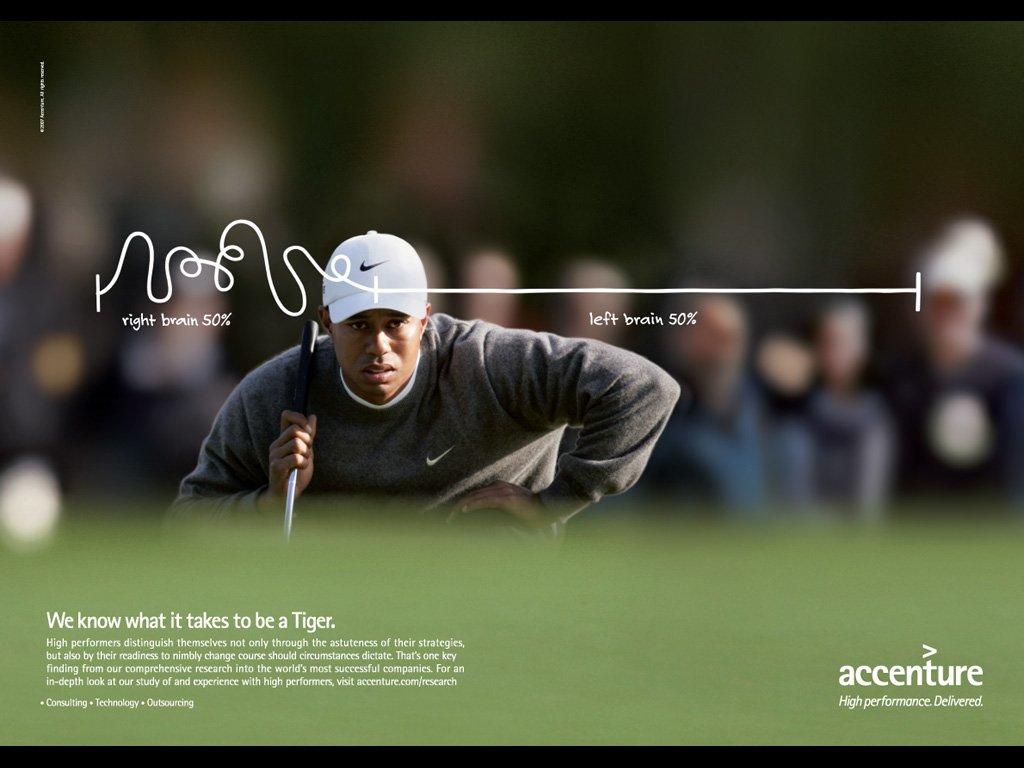 Accenture y Tiger Woods