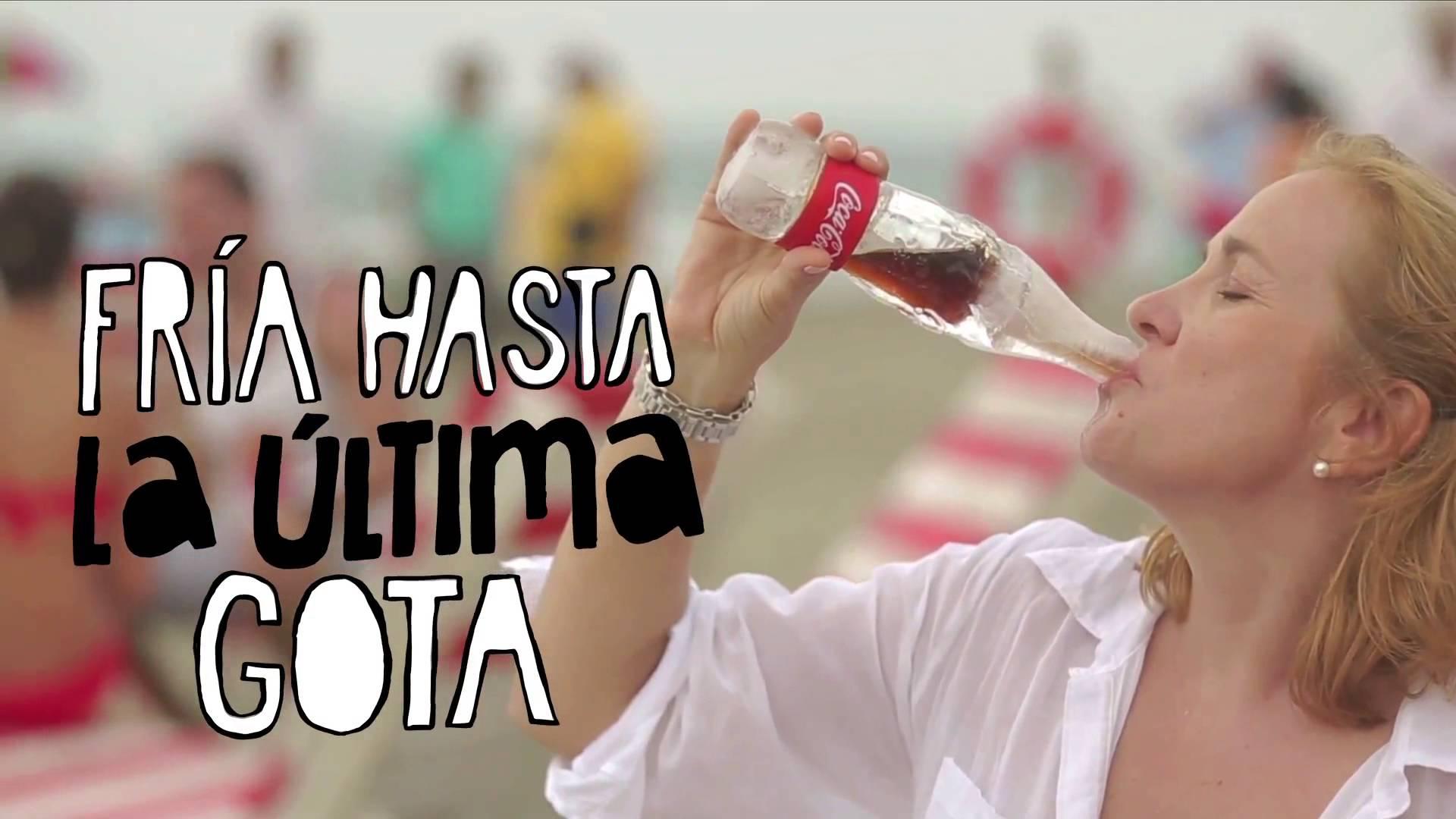 Coca Cola botella de hielo
