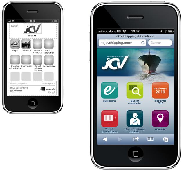 Web JCV Shipping Smartphone
