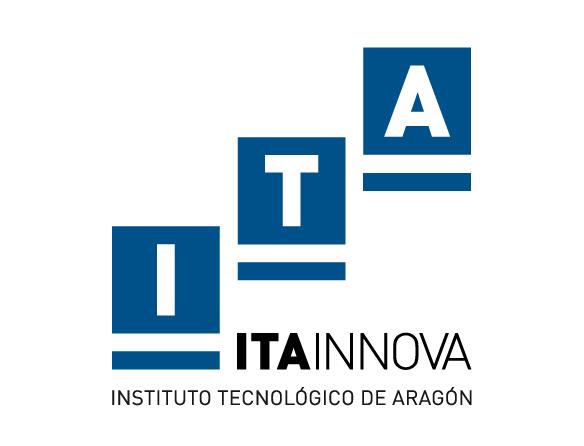 ITA INNOVA. Logo vertical blanco