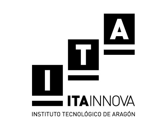ITA INNOVA. Logo vertical negro