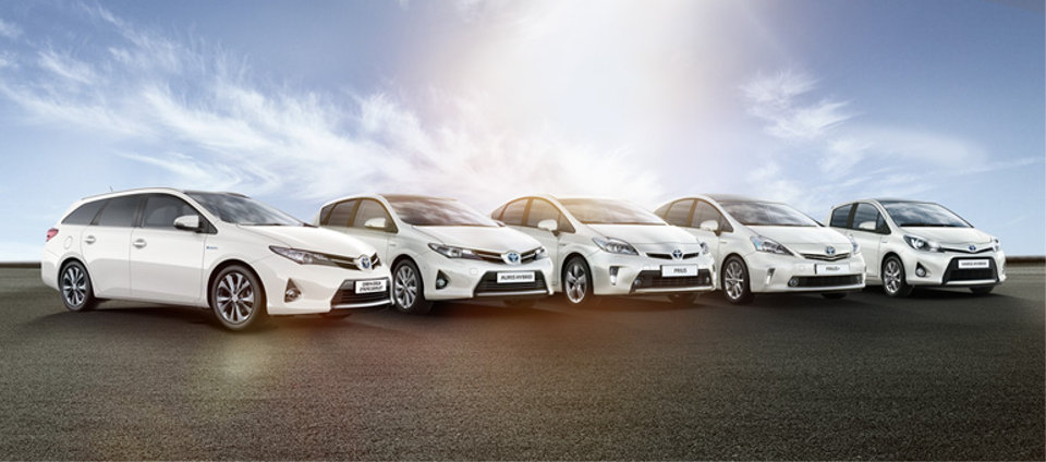 Toyota gama de híbridos