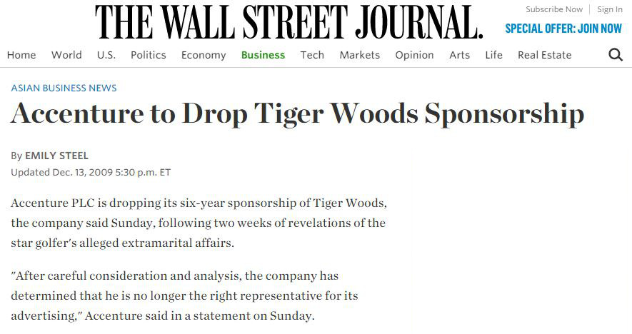 Vitaldent, Accenture y la desconexión con Tiger Woods