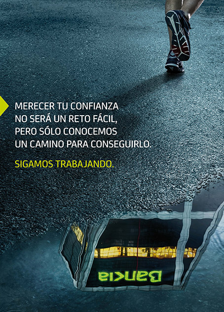 Bankia, campaña sigamos trabajando