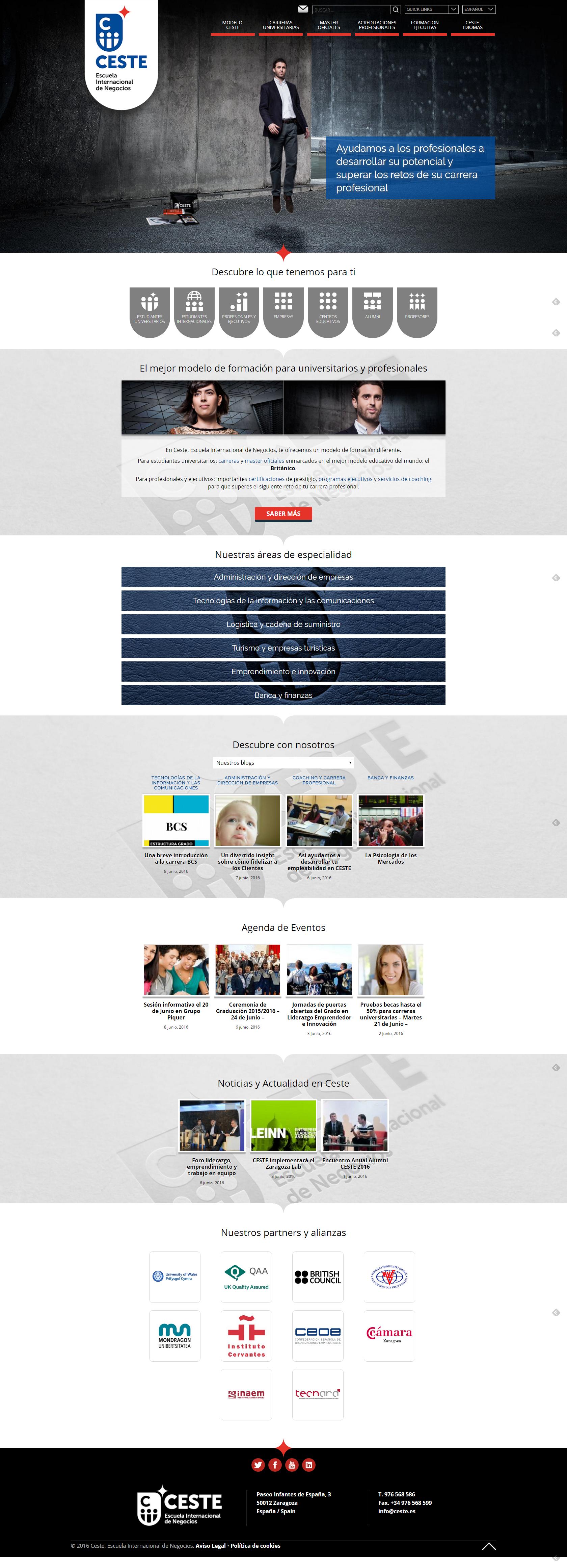 CESTE. Reinvención empresarial. Nueva WEB Levitation Photography