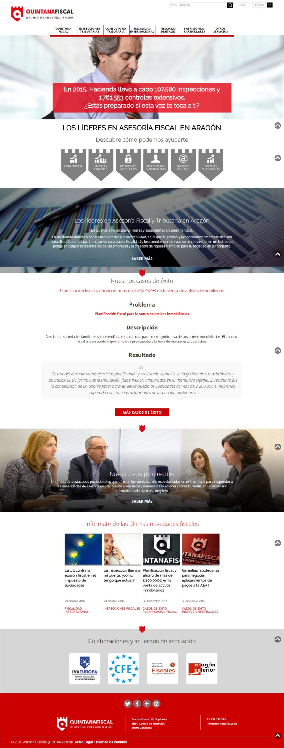 Mejora Competitiva. Reinvención Empresarial. Quintana Fiscal. Web