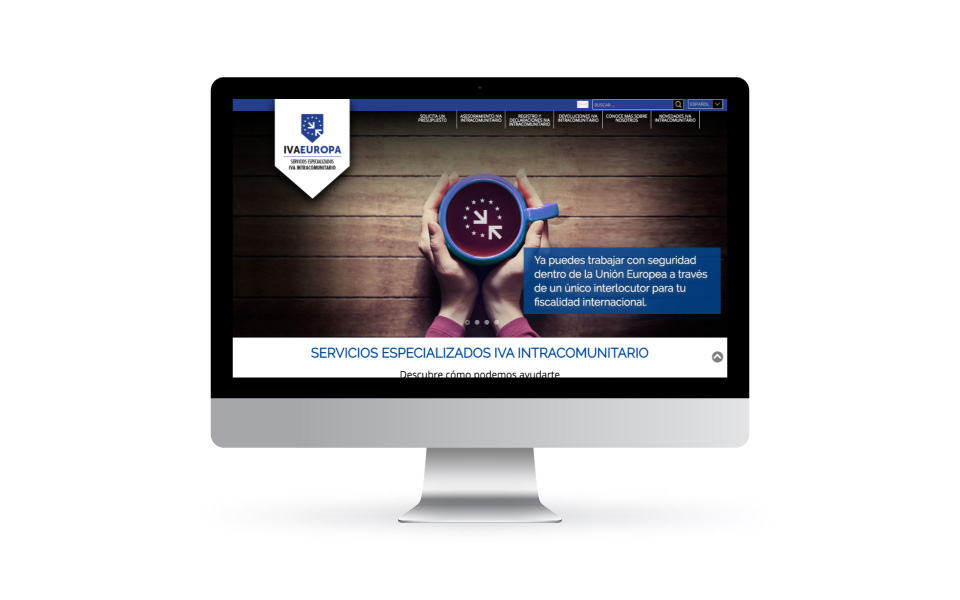 MEJORA COMPETITIVA. Negocios digitales. IVAEuropa. Website. Desktop