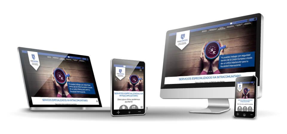 MEJORA COMPETITIVA. Negocios digitales. IVAEuropa. Website. Responsive