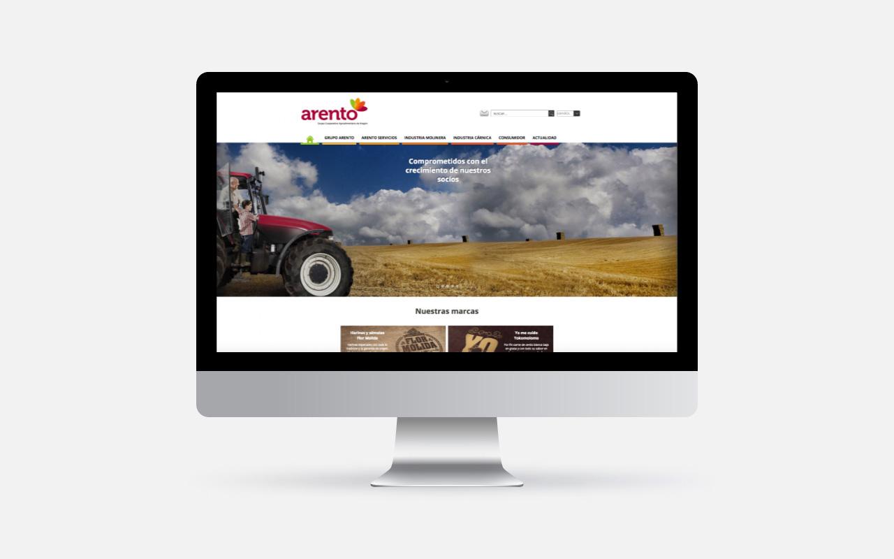 grupo Arento. Website corporativo. Desktop