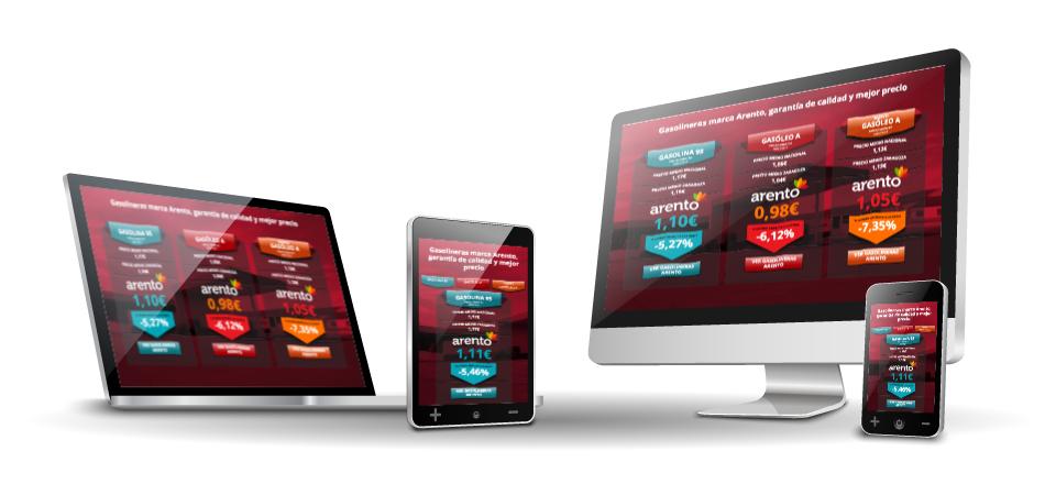 Mejora Competitiva. Agencia comunicación digital. Aplicaciones y herramientas digitales. Arento. Control de Precios de Gasolineras