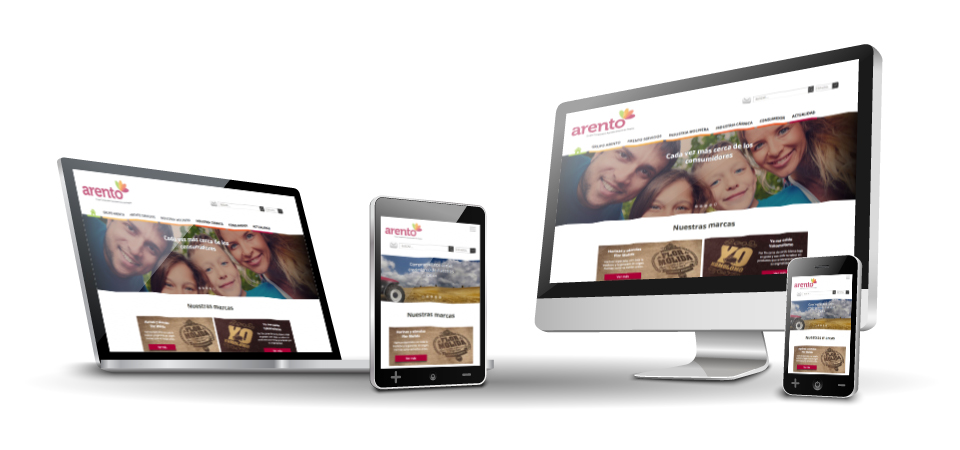 grupo Arento. Website corporativo. Responsive