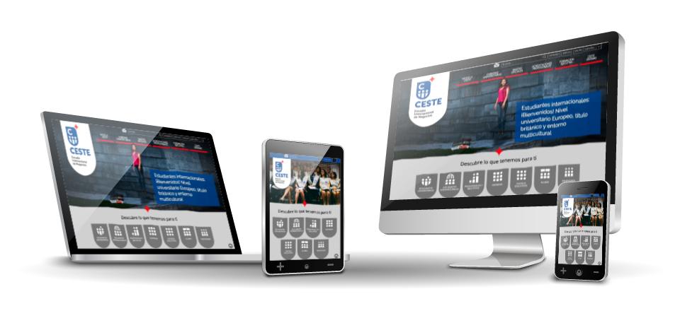Mejora Competitiva. Agencia de comunicación digital. Portfolio. CESTE. Website corporativo. Responsive