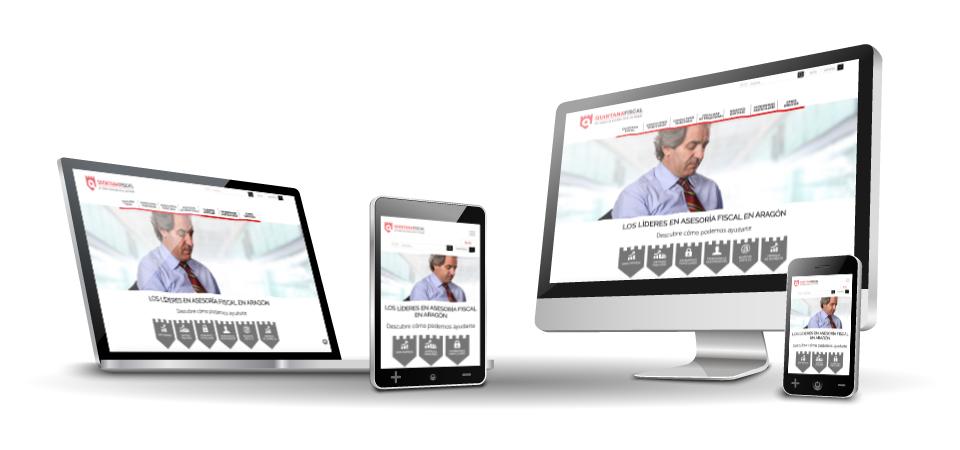 Mejora Competitiva. Agencia de comunicación digital. Website corporativo. Quintana Fiscal. Responsive