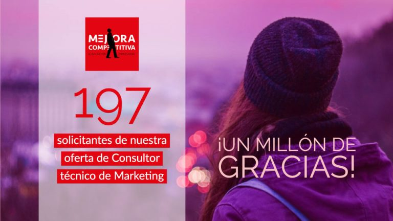 MEJORA COMPETITIVA. 197 candidatos para nuestra oferta de Consultor Técnico de Marketing