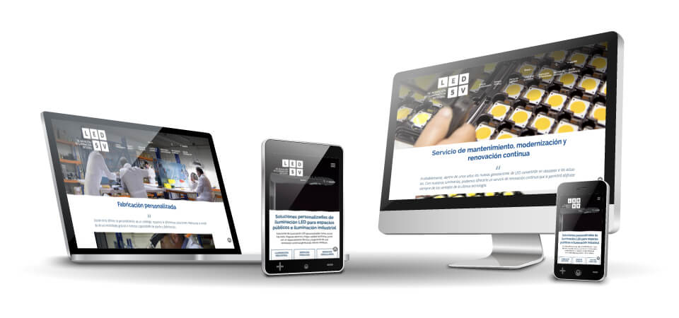 MEJORA COMPETITIVA. LED5V. Website corporativo. Responsive