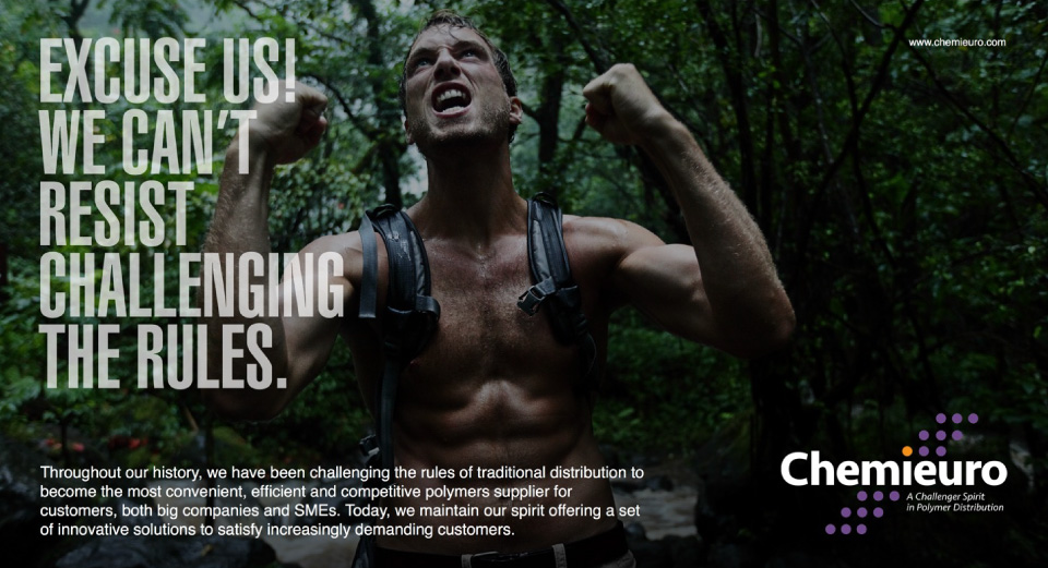 Chemieuro. Campaña creativa. The Challenger Spirit