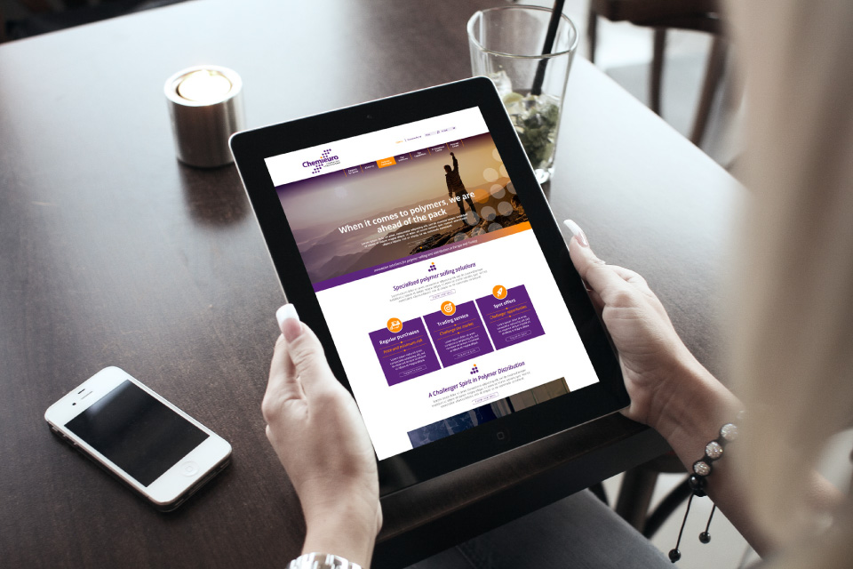 Chemieuro. Transformación digital. Website corporativo