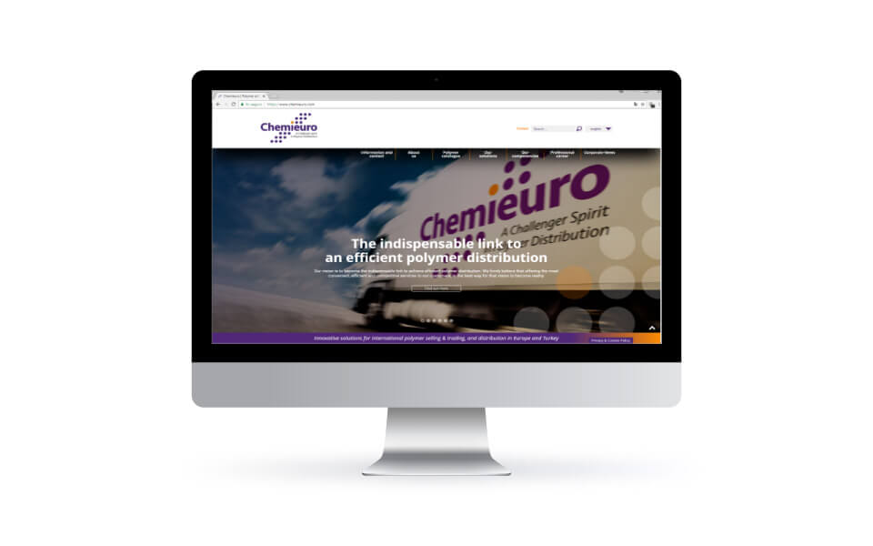 Chemieuro. Website corporativo. Diseño web. Desktop