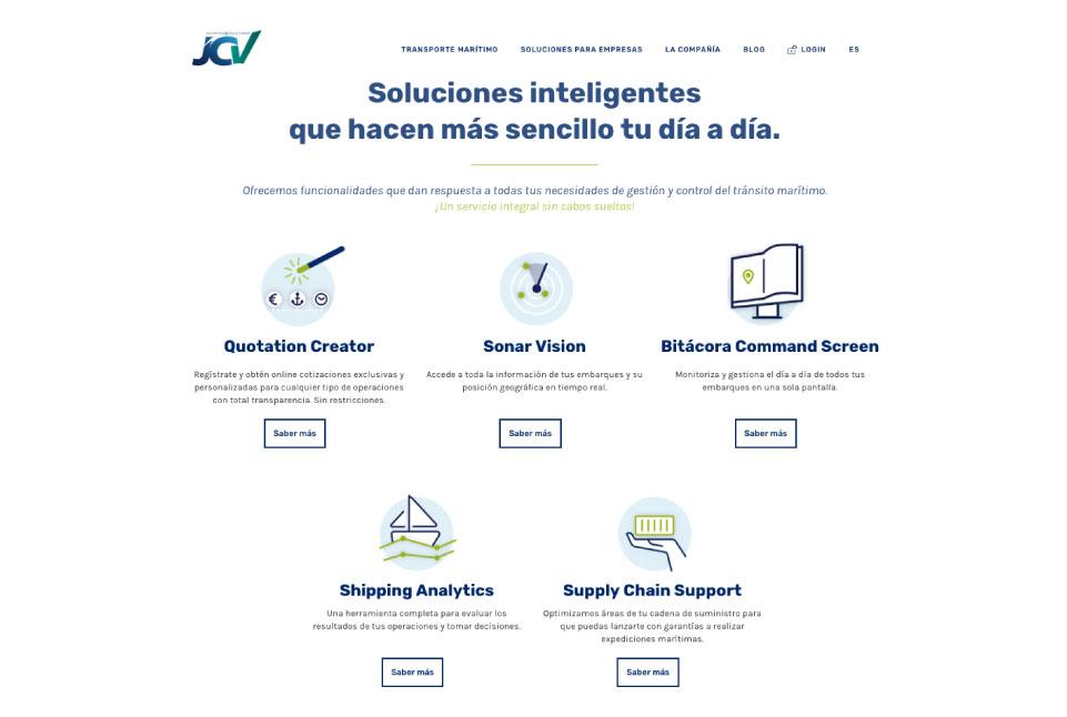JCV Shipping. Transformación digital. Plataforma digital y soluciones digitales