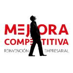 Logo marca. Mejora Competitiva. Reinvención. Fondo blanco